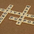 Mastery, autonomy, purpose, motivation - Stock Photo