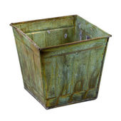 Metal container with a grunge finish — Stock Photo