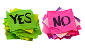 Yes and no - voting or poll concept — Stock Photo