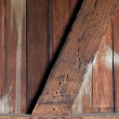 Weathered wooden wall inside an old railroad car — Stock Photo #2433274