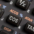 Keyboard of scientific calculator — Stock Photo