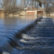 Stock Photo: Diversion dam on river