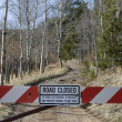 Dead end - road closed - Stock Photo