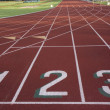 Stock Photo: Starting line of running ltrack