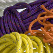Colorful ropes and cords - Stock Photo