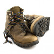 Old heavy hiking boots — Stock Photo