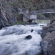Stock Photo: Diversion dam on mountain river