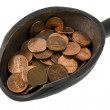 Stock Photo: Scoop of pennies - money concept