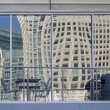 Distorted cityscape of San Francisco — Stock Photo