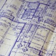 House floor plan blueprint — Stock fotografie
