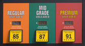 Gas prices at a pump — Stock Photo