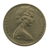 Queen Elizabeth II on a coin — Stock Photo