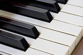 Piano keyboard detail — Stock Photo
