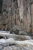 Mountain stream in a deep canyon — Stock Photo