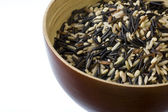 Rice mix - bown, wild, basmati — Stock Photo