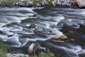 Whitewater in mountain river — Stock Photo