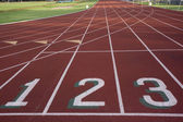 Starting line of a running ltrack — Stock Photo