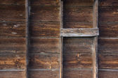 Weathered wood of old barn wall — Stock Photo