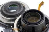 Broken photography lens — Stock Photo