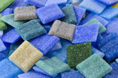 Pile of loose glass mosaic tiles — Stock Photo