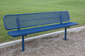 Blue metal bench — Stock Photo