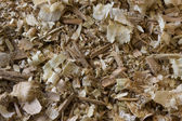 Wood shavings, chips and sawdust — Stock Photo