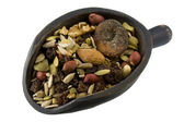 Scoop of trail mix — Stock Photo