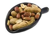 Scoop of peanuts — Stock Photo