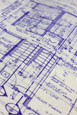 House blueprints — Stock fotografie