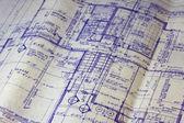 Modèle de plan d'étage de maison — Photo