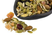 Scoop of healthy trail mix — Stock Photo