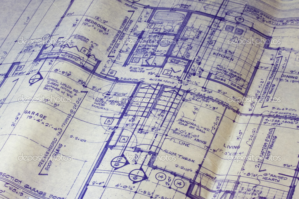 House floor plan blueprint stock photo 2435176 for How to make a blueprint of a house