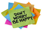 Dont worry be happy — Stock Photo