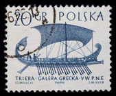 Trireme, ancient Greek warship — Stock Photo