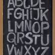 Stock Photo: English alphabet on blackboard