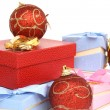 Foto Stock: Balls and gifts