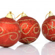 Three xmas balls — Stock Photo