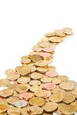 золотые монеты — Стоковое фото