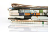 Stack of newspapers — Stock fotografie
