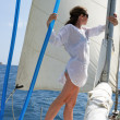 Girl on yacht — Stock Photo #2047364