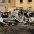 Burnt down cars — Stock Photo #2048664