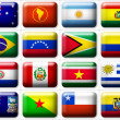 Stock Photo: Flags of Australi& South America