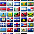 Flags of North America — Stock Photo