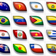 Stock Photo: Flags of Australiand South America