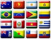 Flags of Australia & South America — Stock Photo