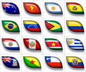 Flags of Australia and South America — Stock Photo