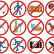 Prohibiting signs (Vector) — Stock Photo