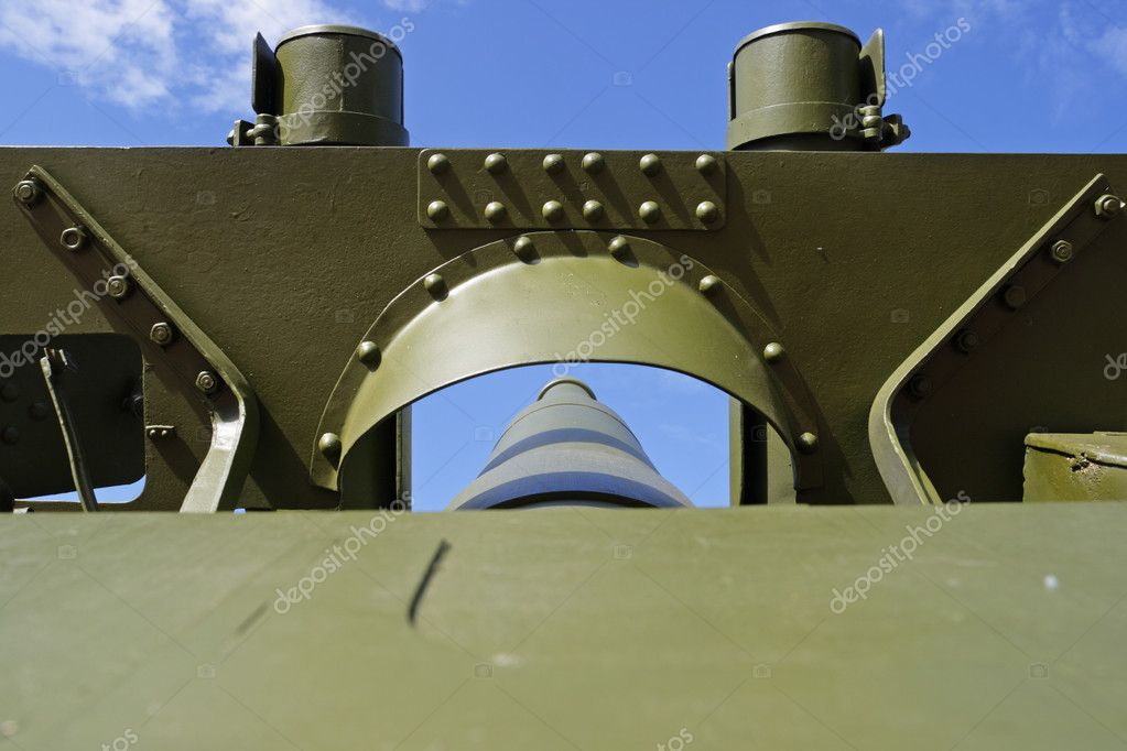 Old cannon from 2 world war — Stock Photo #2060596