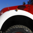 An old firetruck detail — Stock Photo