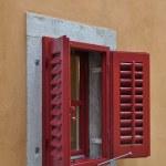 Red Window Shutter — Stock Photo
